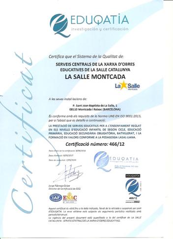 El certificat ISO de Qualitat